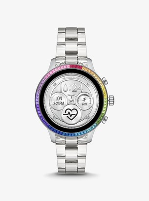 Michael Kors Gen 4 Runway Acetate and Rainbow Pave Smartwatch