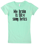 Micro Me Mint 'My Brain Is Ninety Percent Song Lyrics' Fitted Tee - Girls