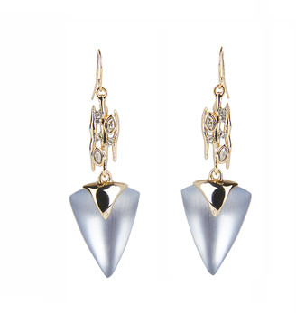 Alexis Bittar Navette Spiked Triangle Drop Wire Earring