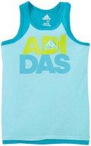 adidas Training Tank (Toddler/Kid) - Light Aqua - 4