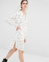 Just Female Grid Shirt Dress