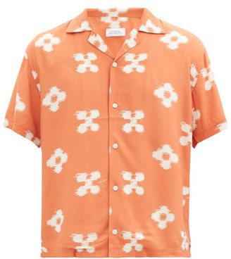 Saturdays NYC Canty Floral-print Crepe Shirt - Orange