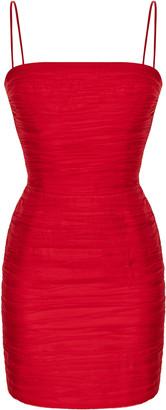 Rasario Silk-Chiffon Mini Dress