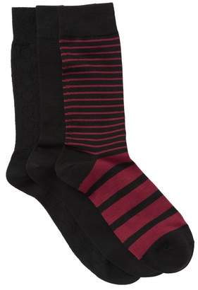 Nordstrom Ultra Soft Stripe Circles Crew Socks - Pack of 3