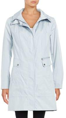 Cole Haan Packable Single Breasted Rain Coat