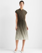 Club Monaco Ombre Pleated Dress