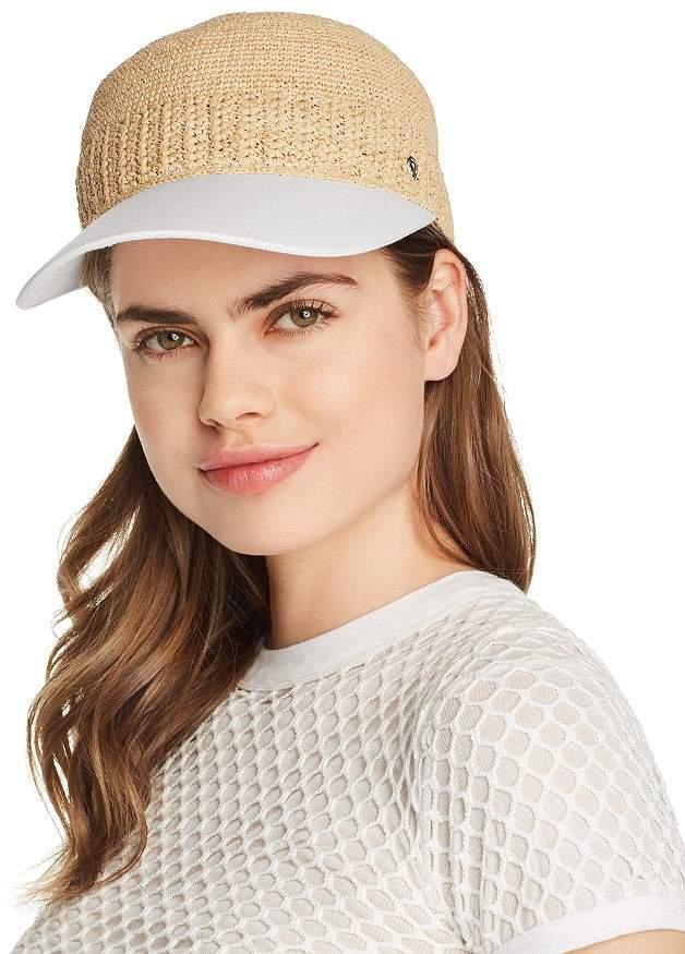 4492d0b0e29 Vivian Raffia Detail Baseball Cap