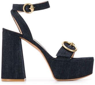 Gianvito Rossi Zandra denim sandals