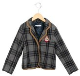 Ikks Girls' Plaid Collared Jacket