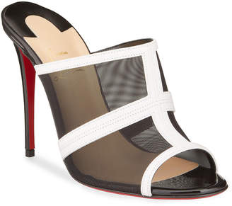Christian Louboutin Interdite Mesh Red Sole Mule Sandals