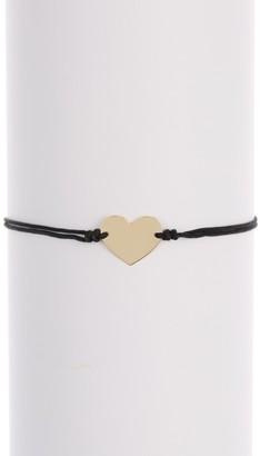 KARAT RUSH 14K Yellow Gold Heart Charm Bracelet