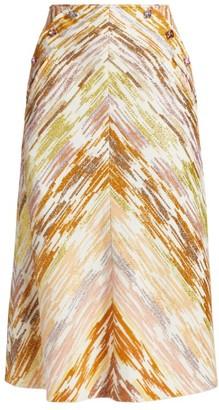 ANNA MASON Ruth Metallic A-Line Midi Skirt