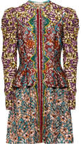 Mary Katrantzou Devar Embellished Brocade And Embroidered Tulle Mini Dress - Burgundy