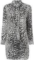 Equipment leopard print pussybow dress - women - Silk - L