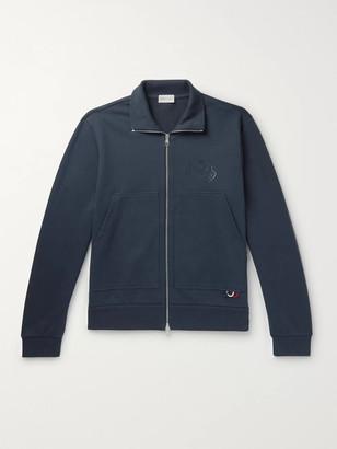 Moncler Logo-Print Loopback Cotton-Jersey Zip-Up Sweatshirt
