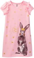 Petit Lem Bunny Queen Nightgown (Toddler & Little Girls)