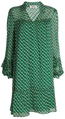 Diane von Furstenberg Heidi Chiffon Printed Dress