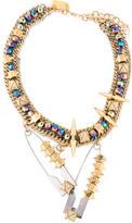 Assad Mounser Clothespin Crystal Collar Necklace
