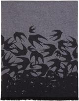 McQ by Alexander McQueen Grey Swallow Scarf