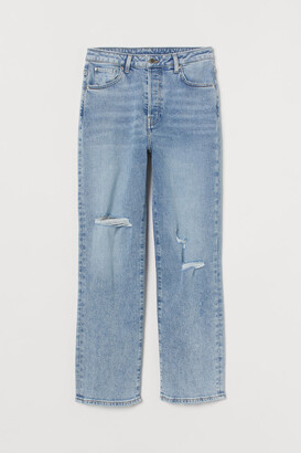 H&M Vintage Straight High Jeans - Blue