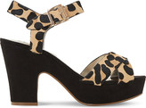 Dune Iyla ponyhair leopard-print platform sandals
