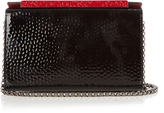 Christian Louboutin Vanite hammered patent-leather clutch