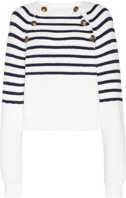 Philosophy di Lorenzo Serafini Striped Ribbed-Knit Sweater