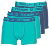 Freegun BOXERS HOMME EN COTON UNI - LOT X 4