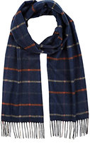 Colombo MEN'S CHECKED CASHMERE-SILK SCARF