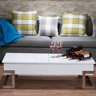 Minna Mercer41 Coffee Table with Lift Top with Tray Top Mercer41 Color: White