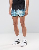 Religion Retro Runner Shorts With Iceberg Print