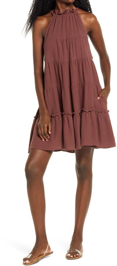 Free People Lera Ruffle Trapeze Dress