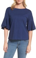 Vineyard Vines Women's Button Back Bell Sleeve Top