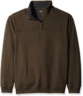Arrow Men's Big and Tall Long Sleeve Sueded Fleece 1/4 Zip