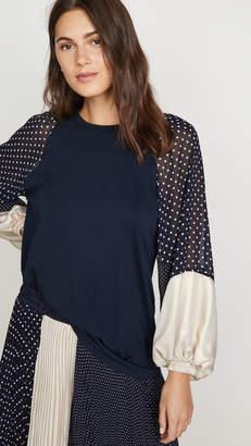 Clu Contrast Sleeve Top