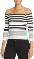 Cupcakes And Cashmere Leilani Off-the-Shoulder Stripe Top