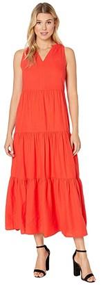 Tommy Bahama Lena Tiered Maxi Sundress (Poppy Red) Women's Dress