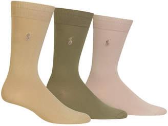 Polo Ralph Lauren Men 3 Pack Super-Soft Dress Socks