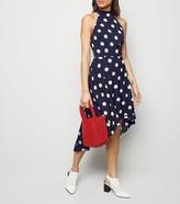 New Look Mela Polka Dot Dip Hem Dress