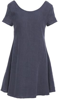 American Vintage Ficobay Flared Linen Mini Dress