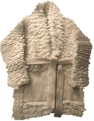 Alanui White Wool Coats