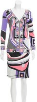 Emilio Pucci Abstract Print Knee-Length Dress