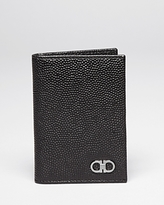 Salvatore Ferragamo Ten-Forty On Pebbled Leather Vertical Card Holder