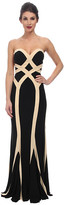 Faviana Jersey Two-Tone Strapless Dress 7571