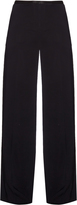 The Row Astrid stretch-cady wide-leg trousers