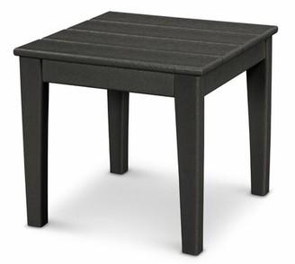 Polywood Newport Plastic Side Table Color: Black