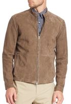 Theory Two-Way Zip Front Suede Jacket