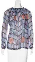 See by Chloe Abstract Print Silk Top
