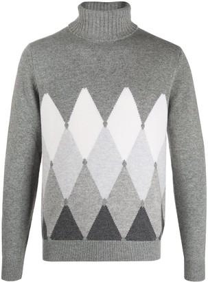Ballantyne Bold Diamond Roll-Neck Sweater