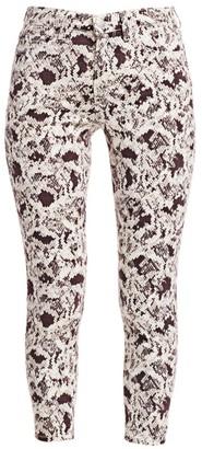 L'Agence Margot High-Rise Skinny Python-Print Jeans
